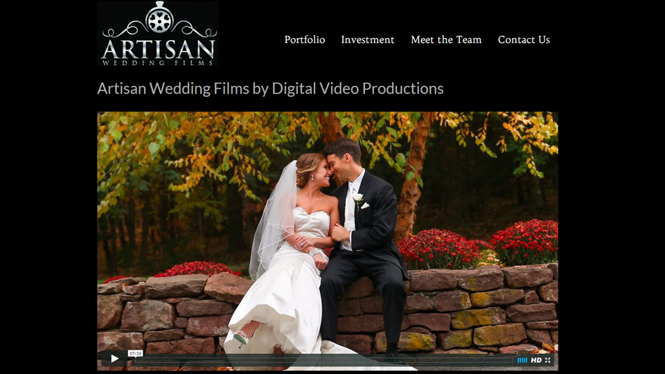 Cinematic Wedding Video by Digital Video Productions